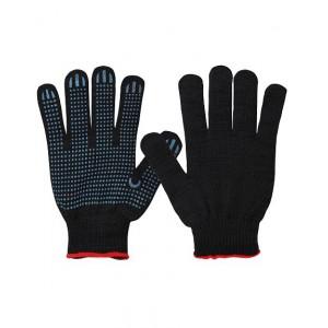 Перчатки 10 класс (6) с ПВХ (черные)
